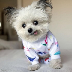 Cutebone Adorable Dinosaur Dog Pajamas Doggie Jumpsuit Pet Clothes Shirt Puppy Pajamas Dog Apparel P01